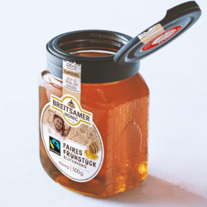 Reliable honey enjoyment, improved lid