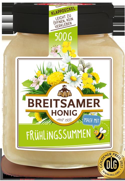 Breitsamer Frühlingssummen Honig mit goldener DLG Medaille