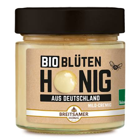 Organic Blossom Honey from Germany, creamy, 315 g
