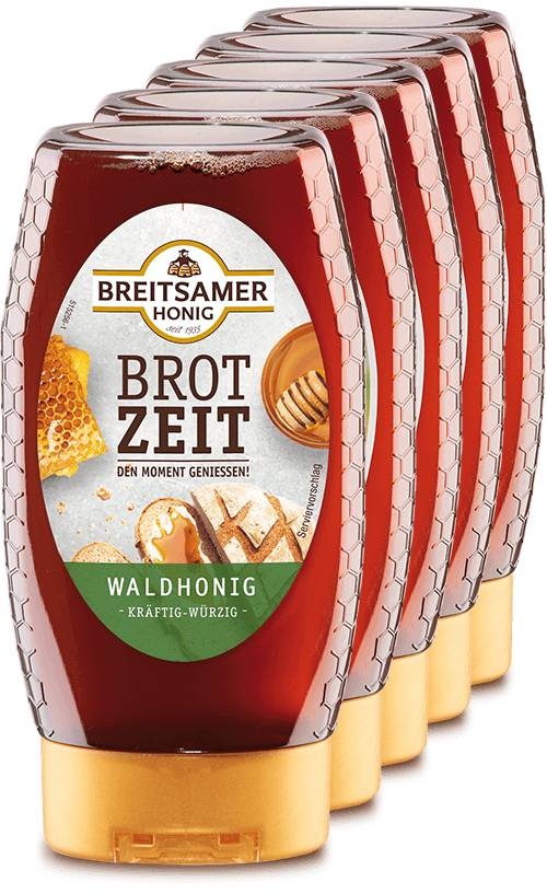 Brotzeit Honey, liquid, 5x350g