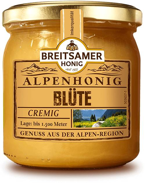 Alpine Blossom Honey, creamy, 500g