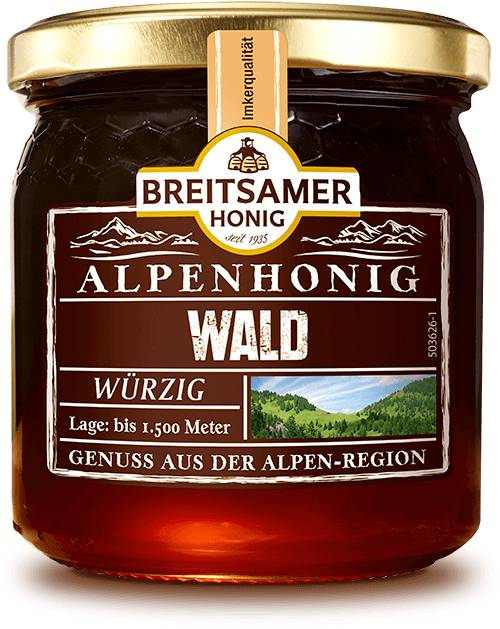Alpine Forest Honey, liquid, 500g