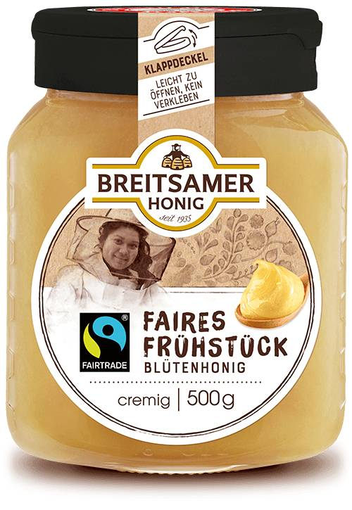 Fairtrade Breakfast Honey, creamy, 500g