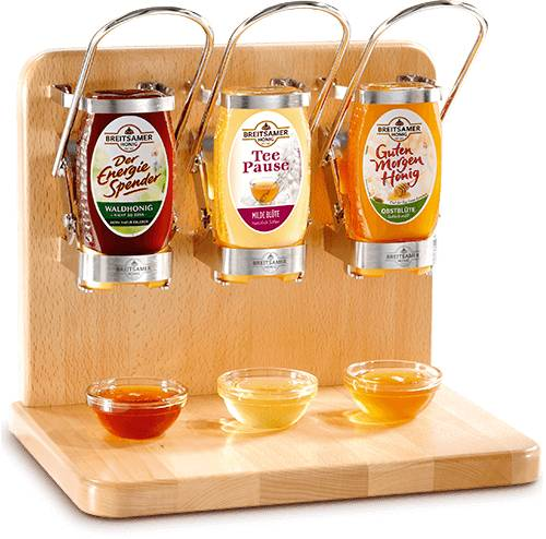 SquEasy Honey Buffet Dispenser, pack of 3 (incl. Honey)
